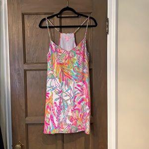 Lilly Pulitzer silk racerback dress